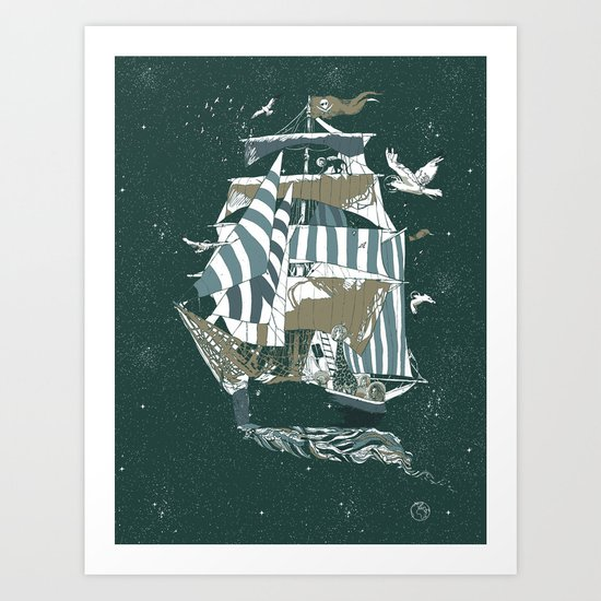 Sail to The Moon Art Print