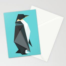 Fractal geometric emperor penguin Stationery Cards