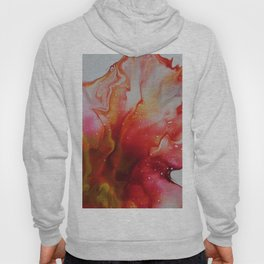 Abstract Magenta Flower Hoody