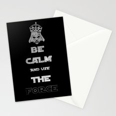 Be Calm and Use The Force Stationery Cards