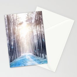 Feather Dance In Winter Stationery Cards
