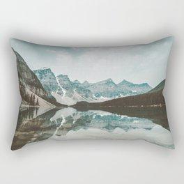 Moraine Lake Mountain Reflection Summer Rectangular Pillow