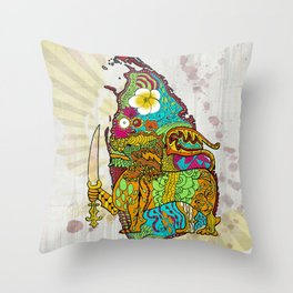 Abstract SL Throw Pillow