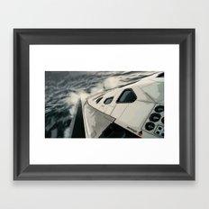 Interstellar Surfing Framed Art Print