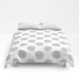 Light Grey Large Polka Dots Pattern Comforters