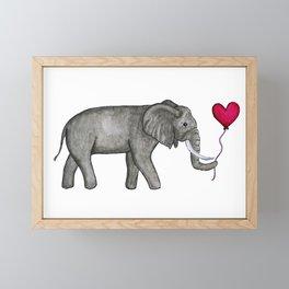 Elephant Love Framed Mini Art Print