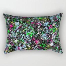 paint drop design - abstract spray paint drops 2 Rectangular Pillow