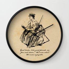 Lousia May Alcott - Good Books Wall Clock