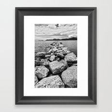 On the Rocks Framed Art Print