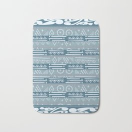 Polynesian Blue Beach Print Badematte