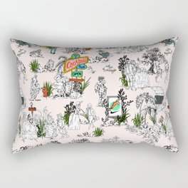 Toile de Jouy Between eras 01 Rectangular Pillow