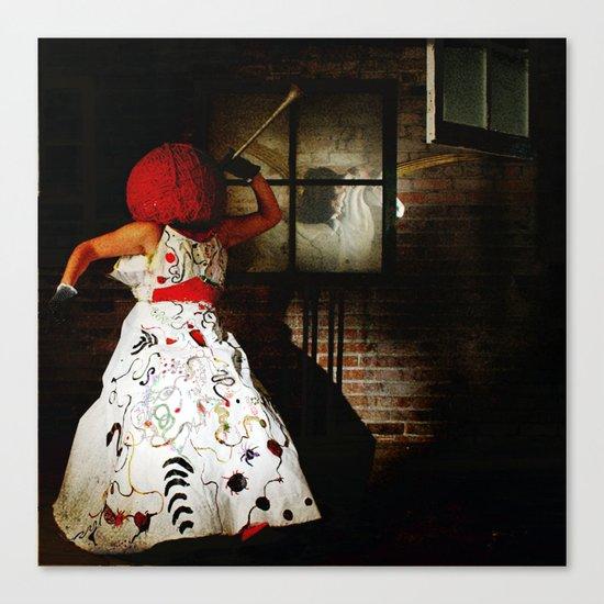 """Little Miss Redhead"" Canvas Print"
