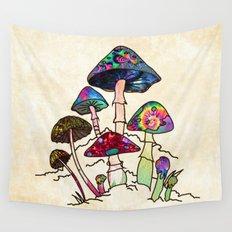 Garden of Shroomz Wall Tapestry