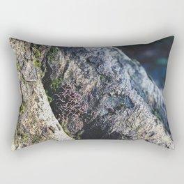 Tree Trunk Mushrooms - Nature Photography Rectangular Pillow