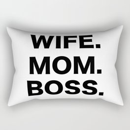 Wife Mom Boss Rectangular Pillow