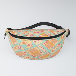 Video Game Controllers in Retro Colors Fanny Pack