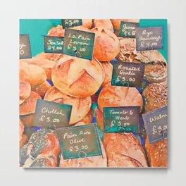 Fresh Bread Market Stall Metal Print