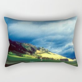 FROM THE TRAIN IN SWITZERLAND Rectangular Pillow