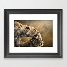 Sisterly love Framed Art Print