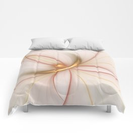 Nobly In Gold And Copper, Fractal Art Comforters