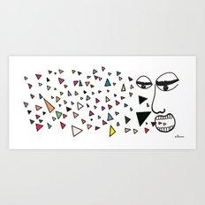 Sick of happiness Art Print