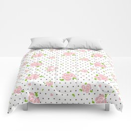 """""""Roses & Dots"""" Comforters"""