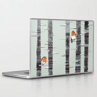tree Laptop & iPad Skins featuring Robin Trees by Sandra Dieckmann