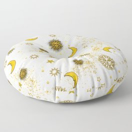 Vintage Sun and Moon Floor Pillow