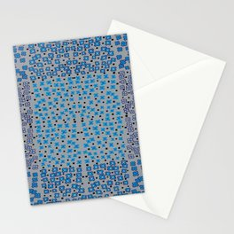 Diamond Flowers Squares Quilt Stationery Cards