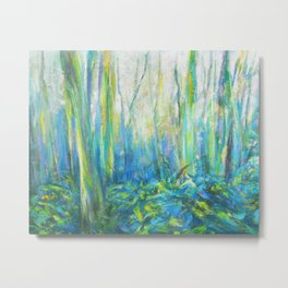 Enchanted spring forest Metal Print