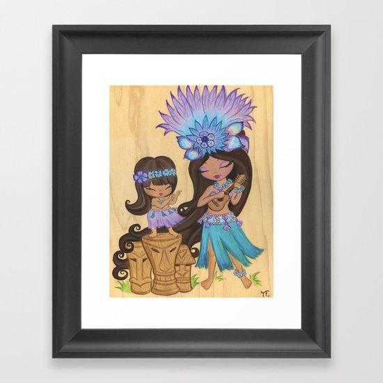 Kaylie Uklele Framed Art Print