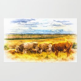 Later Afternoon Cows Rug