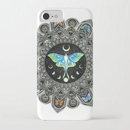Lunar Moth Mandala iPhone Case