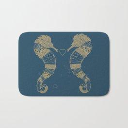 <3 of seahorses Bath Mat