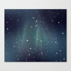 Aurora Stars Canvas Print