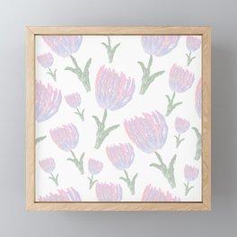 Tulips - pink and ultra violet Framed Mini Art Print