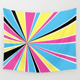 CMYK Star Burst Wall Tapestry