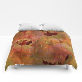 Vintage Soft Peach Glow Gladiola Abstract Comforters