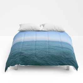 Floating to Blue Comforters