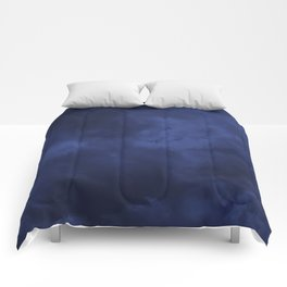 Dark blue clouds Comforters