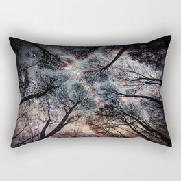 Starry Sky in the Forest Rectangular Pillow