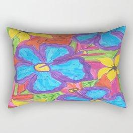 Tropical Rainbow Garden Rectangular Pillow