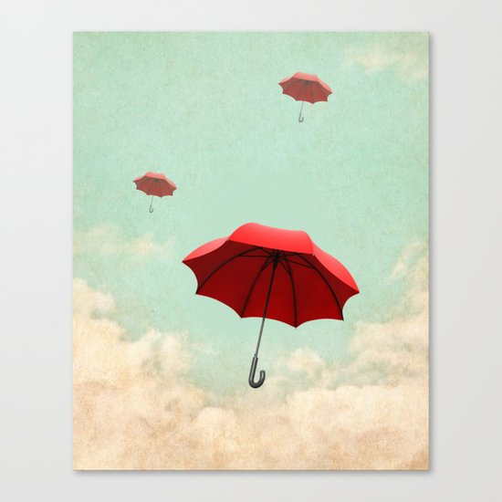 rising into the blue Canvas Print