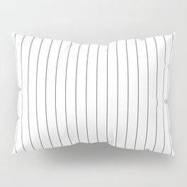 White Black Pinstripes Minimalist Pillow Sham