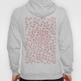 floral, red on white Hoody