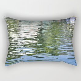 Colorful Reflections Abstract Rectangular Pillow