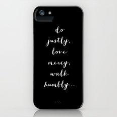 WALK HUMBLY - B & W iPhone (5, 5s) Slim Case