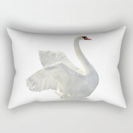 WHITE ON WHITE-BEAUTIFUL SWAN Rectangular Pillow