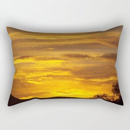 WAVES IN THE SUNRISE CLOUDS Rectangular Pillow