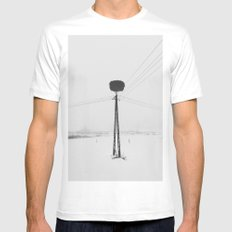 The nest MEDIUM White Mens Fitted Tee